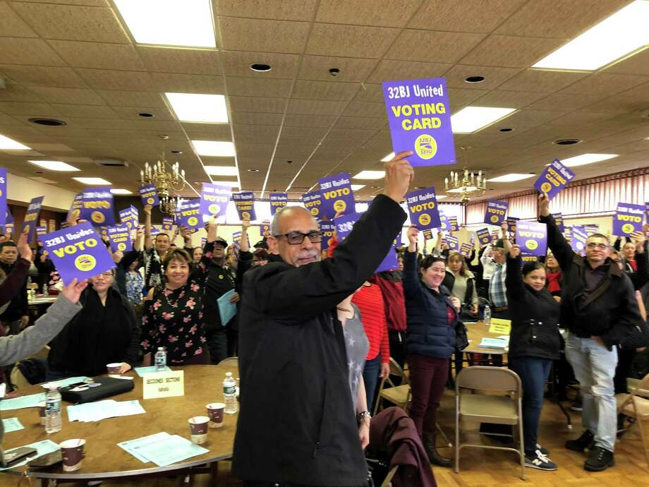 An image from the vote Saturday morning, Dec. 28, 2019, in Port Chester, N.Y. Photo: Contributed Photo / Local 32BJ Of The Service Employees International Union