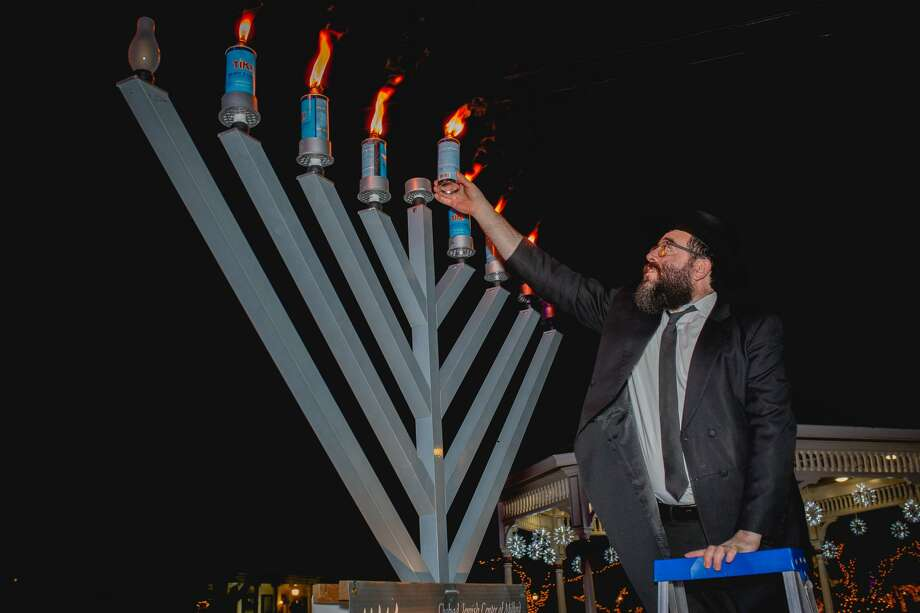 Milford held its annual menorah lighting on the green on December 28, 2019. Were you SEEN? Photo: Lisa Nichols/CT Hearst CT Media