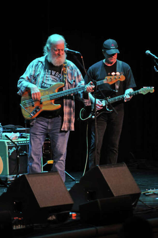 """Original Ozark Mountain Daredevils' member Michael """"Supe"""" Granda, left, performs with the band during a Saturday matinee show at The Wildey Theatre in Edwardsville. Photo: David Blanchette