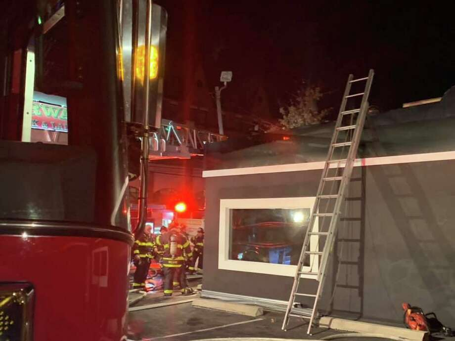 Fire officials are investigating an early morning fire Sunday inside a barbershop set to open in the coming weeks. The cause is not yet known. Photo: Contributed / Norwalk Fire Department