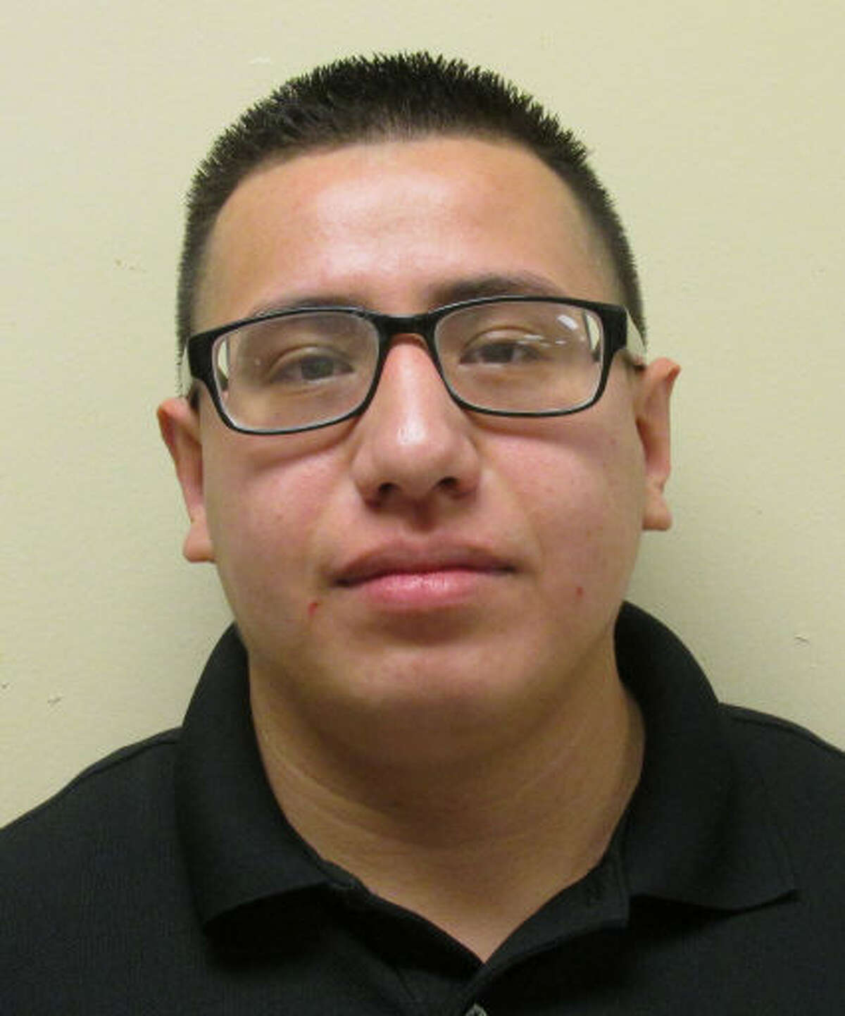 Andrew Ramos, 24, has been charged with aggravated assault with a deadly weapon/ family violence.