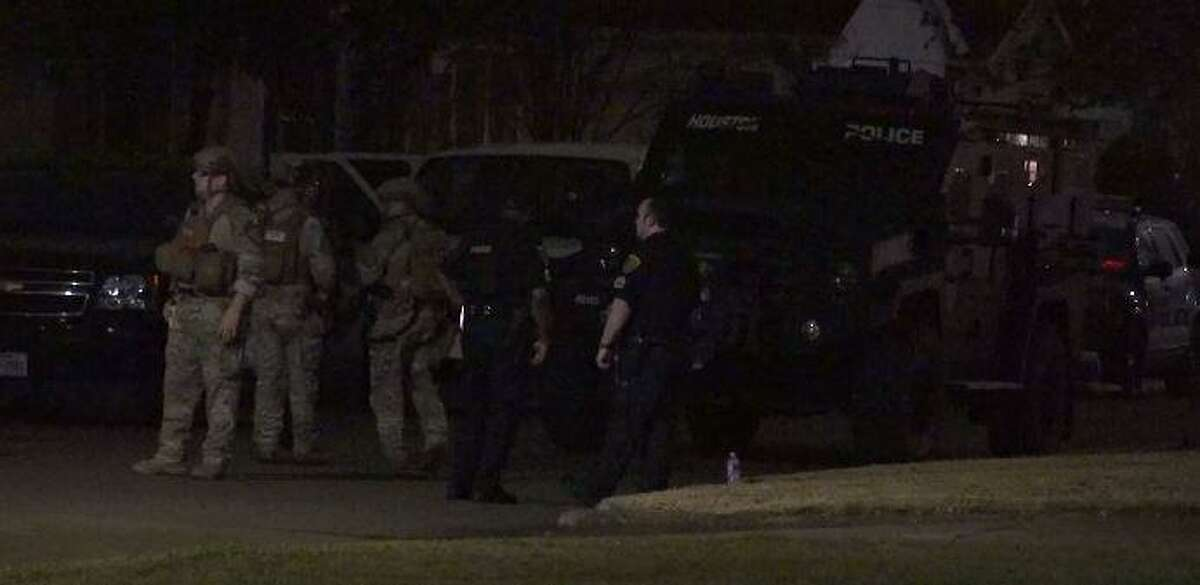 Houston Police Department's SWAT Team responds to a hostage situation involving a 1-year-old girl early Sunday morning.