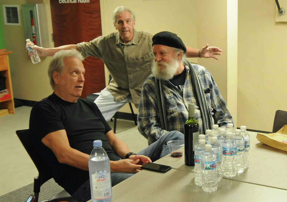 Daredevils' band members joke around before Saturday afternoon's concert at Edwardsville's Wildey Theatre. Photo: David Blanchette|For The Intelligencer