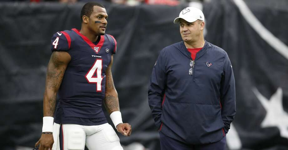PHOTOS: Texans backups fall to Titans 35-14 in season finale Houston Texans quarterback Deshaun Watson (4) and head coach Bill O'Brien talk on the field before an NFL football game against the Tennessee Titans at NRG Stadium on Sunday, Dec. 29, 2019, in Houston. Photo: Brett Coomer/Staff Photographer