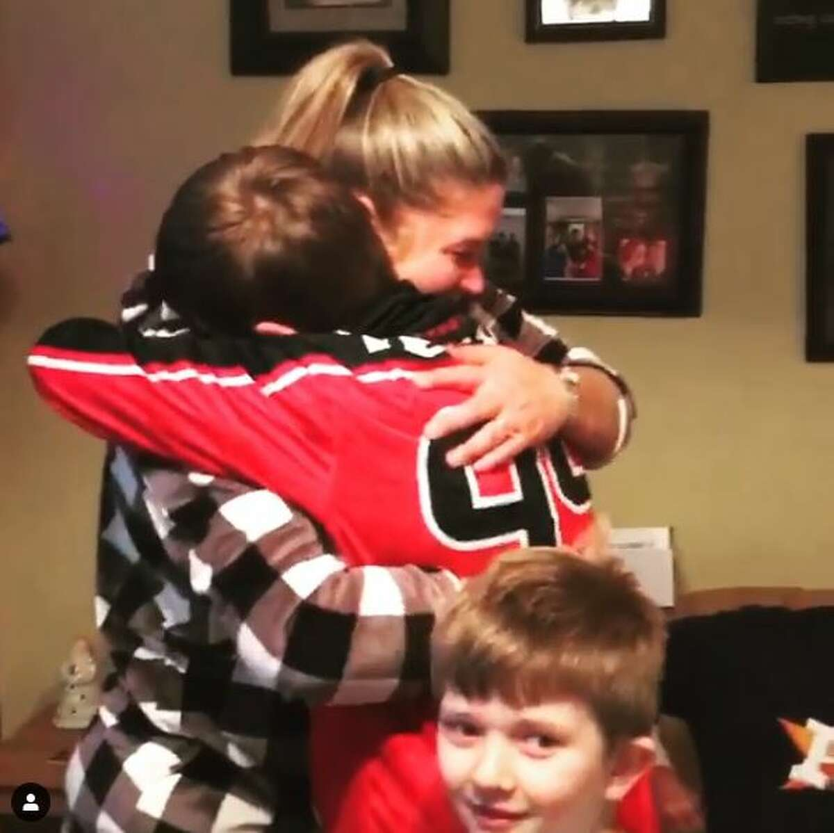 When Texans star J.J. Watt saw a young fan get the Christmas gift of his dreams, it literally brought tears to his eyes.