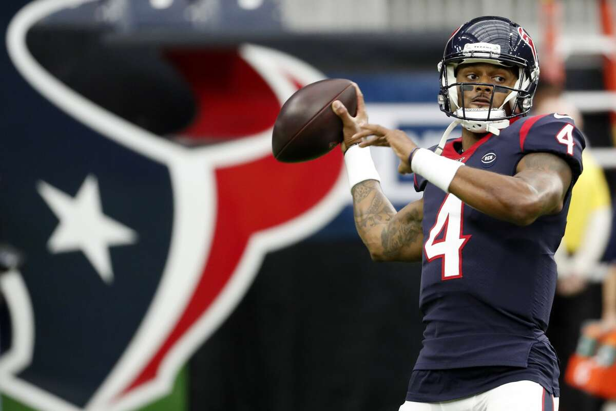 PHOTOS: Coronavirus outbreak in Houston  ouston Texans quarterback Deshaun Watson (4) warms up before an NFL football game against the Tennessee Titans at NRG Stadium on Sunday, Dec. 29, 2019, in Houston. >>>See the Houston Chronicle's coverage of the coronavirus in photos ...