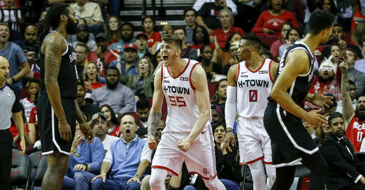 PHOTOS: Rockets game-by-game Houston Rockets center Isaiah Hartenstein (55) reacts after scoring during the second quarter of an NBA game at the Toyota Center on Saturday, Dec. 28, 2019, in Houston. Browse through the photos to see how the Rockets have fared in each game this season.