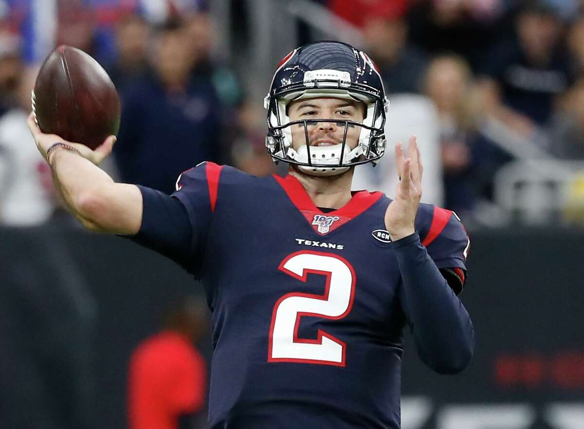 A.J. McCarron got the start at quarterback for the Texans on Sunday.