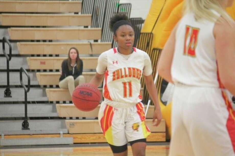 Shaniya Huggins is in her junior season for Ferris State. (Pioneer file photo)