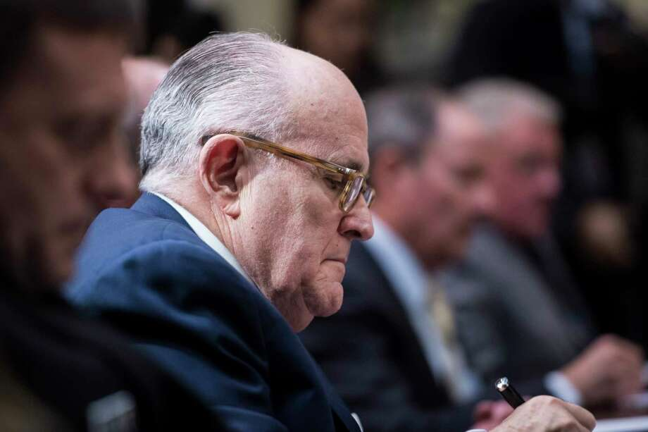 Rudy Giuliani at a White House meeting 2017. Photo: Washington Post Photo By Jabin Botsford / The Washington Post