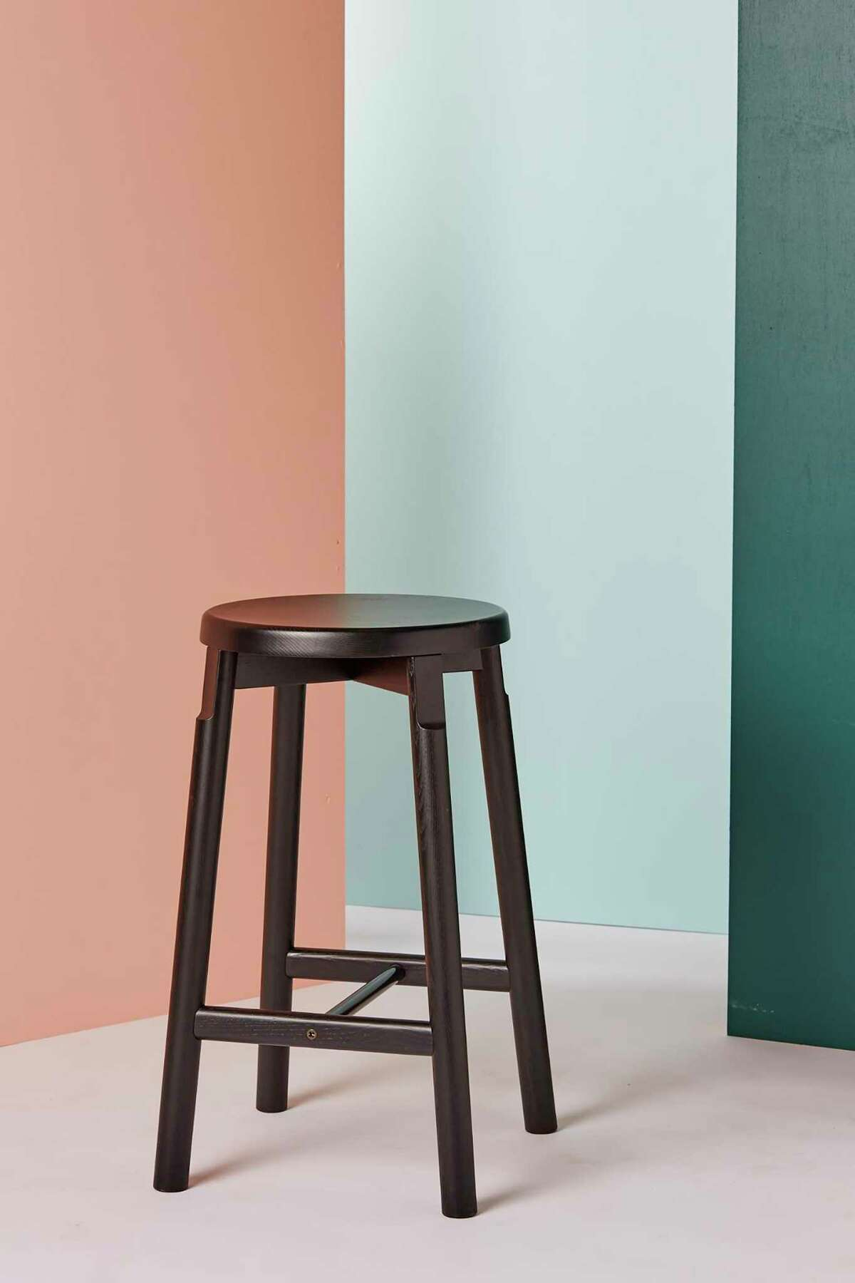 Crafted from solid ash, the barn stools developed by Oakland's Pfeiffer Lab are inspired by Shaker simplicity.