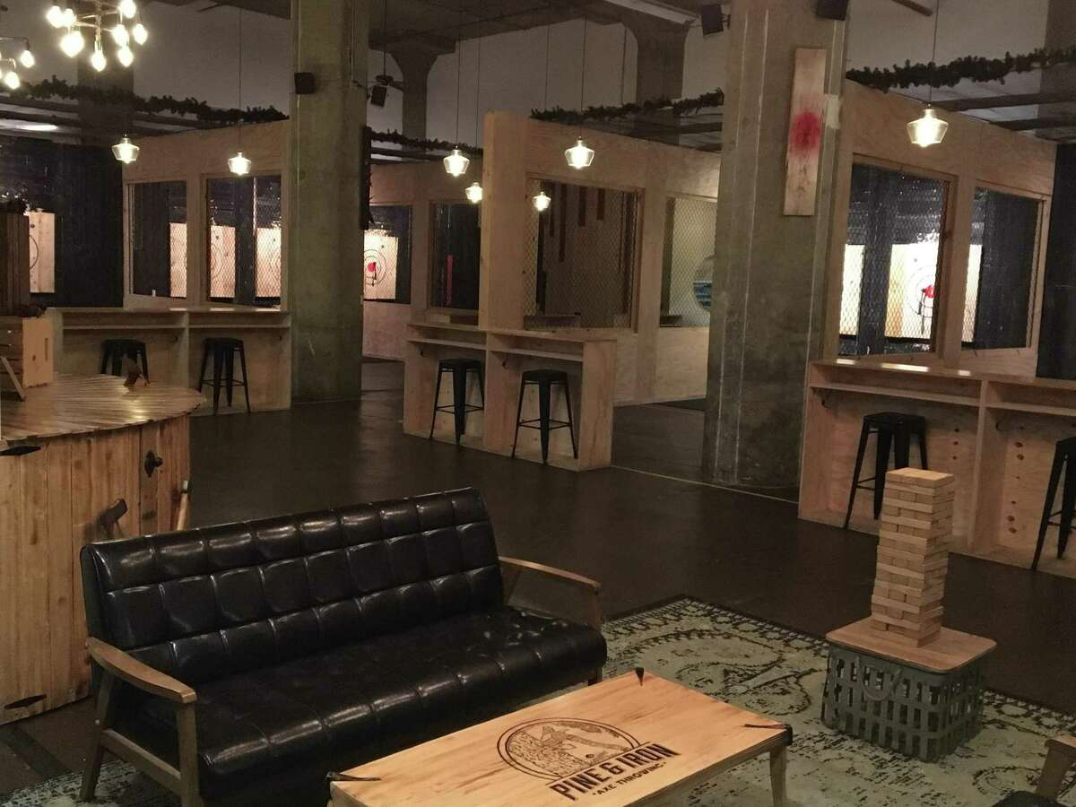 Pine & Iron Axe Throwing's Hartford location.