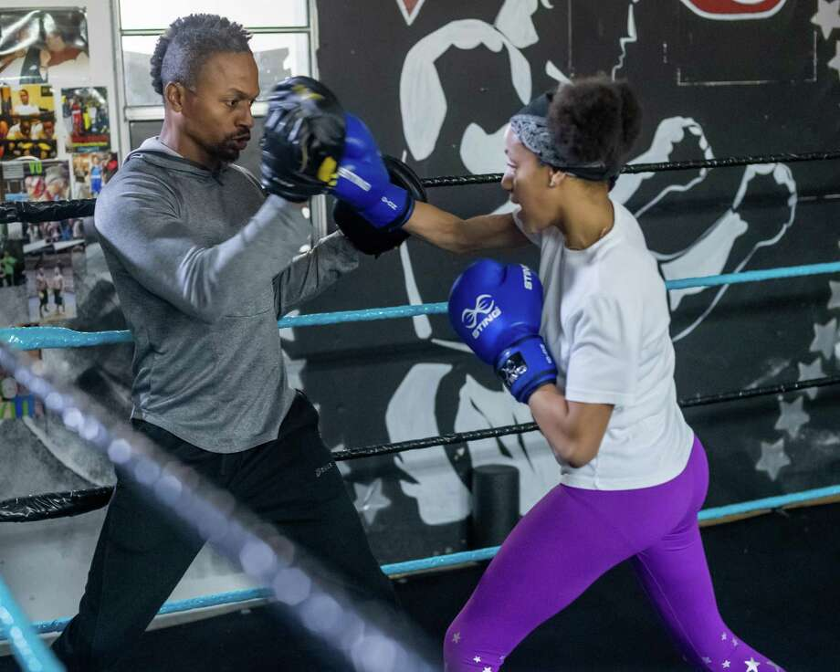 Local Beaumont boxer Zy'loin Edwards, 12, is ranked No. 1 after winning her junior division at the 2019 Olympic Trials National Championships in Lake Charles. Zy'lion Edwards, 12, spars during her training with Coach Shakey Lewis at Victory University Boxing in Beaumont on December 19, 2019. Fran Ruchalski/The Enterprise Photo: Fran Ruchalski/The Enterprise