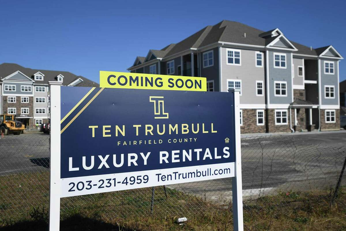 The Ten Trumbull apartment at 100 Oakview Drive in Trumbull before it was completed in 2019.