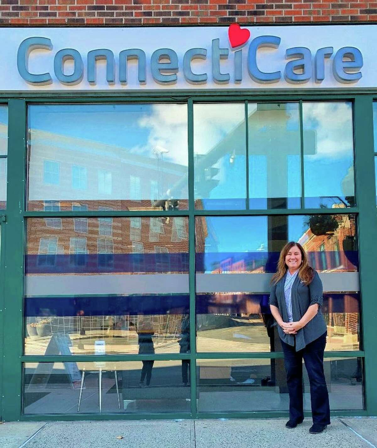 ConnectiCare's Director or Retail Operations, Laurie Blier, at the ConnectiCare center in Norwalk, Conn.