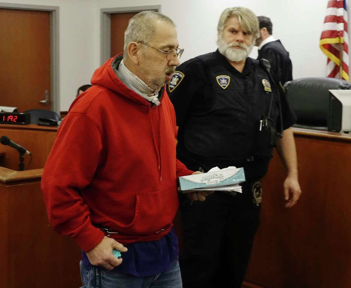 Mark Sousie appears in Troy City Court for his arraignment on Monday, Dec. 30, 2019, in Troy, N.Y. (Paul Buckowski/Times Union)