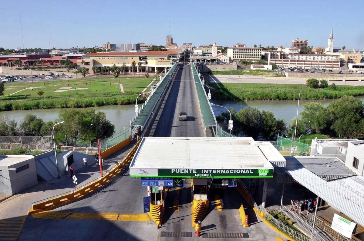 Puente de Las Americas Bridge connecting Laredo and Nuevo Laredo is pictured in 2013.