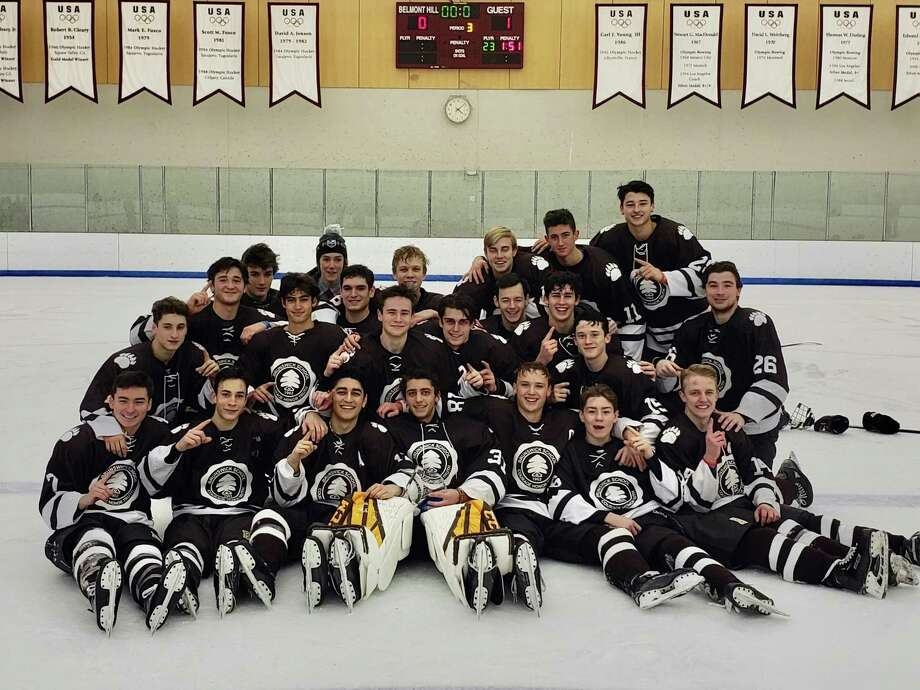 The Brunswick School ice hockey team won the Belmont Hill/Nichols Tournament with a 1-0 victory over Belmont Hill School on Monday, December 30, 2019, in Belmont, Massachusetts. Photo: Contributed Photo