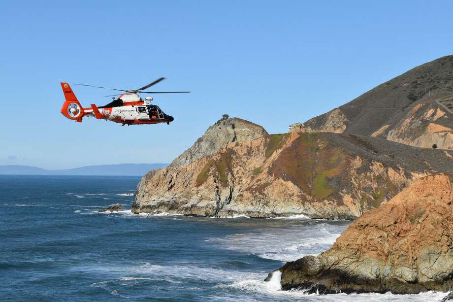 Officials search for a vehicle that reportedly went over a cliff near Grey Whale Cove in San Mateo County. Photo: Cal Fire San Mateo Via Twitter