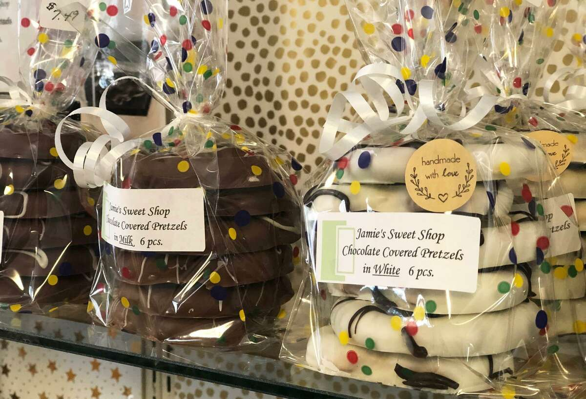 An assortment of chocolates are sold at Jamie's Sweet Shop on Route 202 in New Milford.