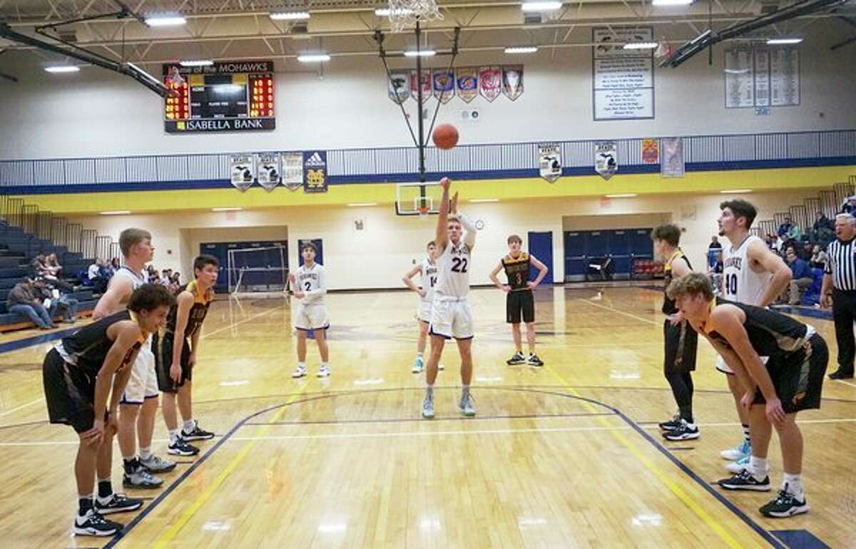 Morley Stanwood's Aiden McLaughlin and the rest of the Mowhawks are ready to get the near year underway. (Pioneer file photo/Joe Judd)