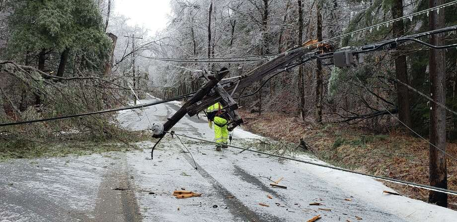 An ice storm struck the town of Norfolk in Litchfield County on Monday, Dec. 30, 2019. Photo: Photo By Jon Barbagallo, Norfolk PIO.