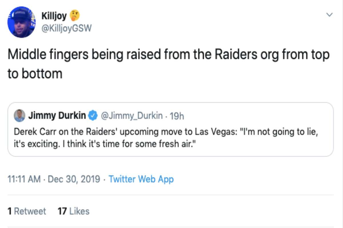 Fans react to Derek Carr's