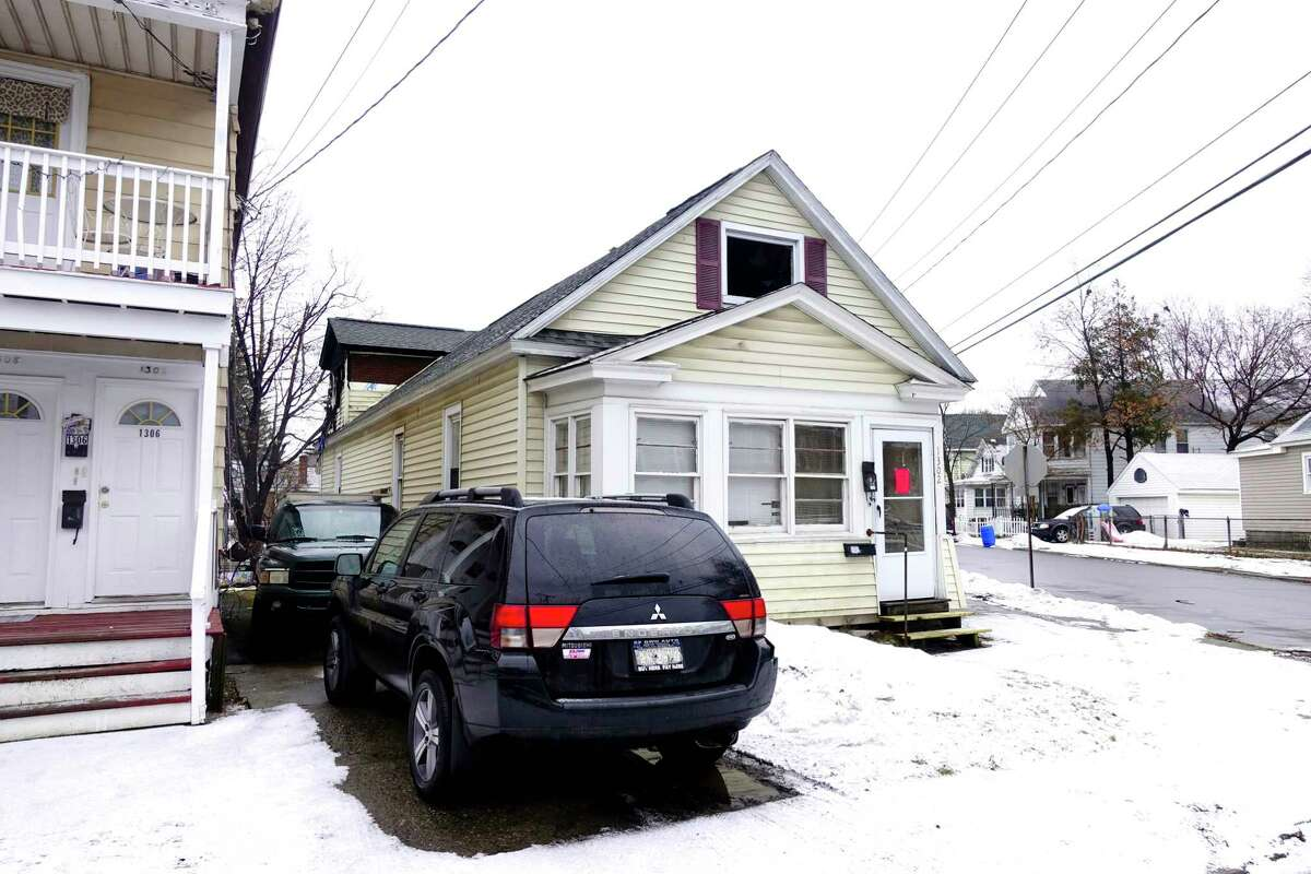 A view of the home at 1302 Santa Fe Street on Tuesday, Dec. 31, 2019, in Schenectady, N.Y. The home was damaged by a fire on Monday night. (Paul Buckowski/Times Union)