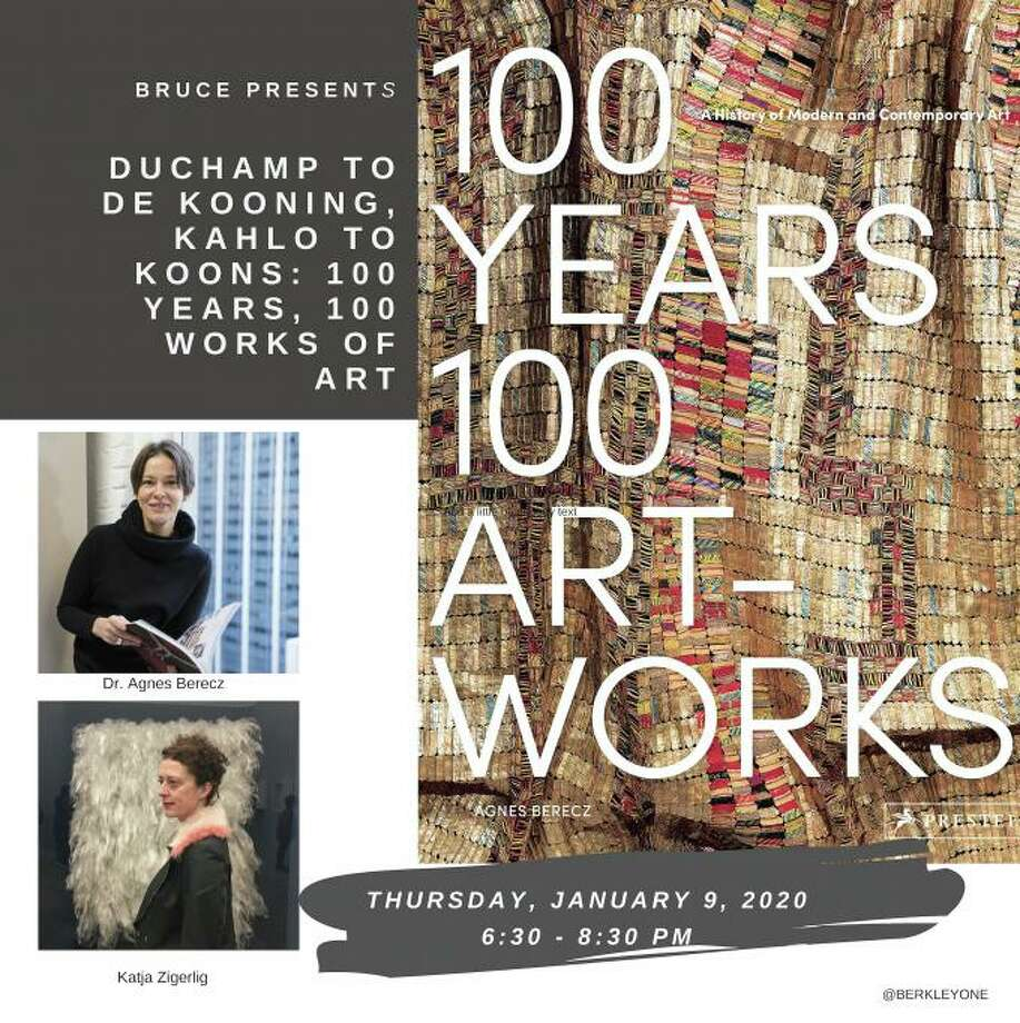 "Art historian Agnes Berecz will discuss the choices she made in selecting artworks featured in her book ""100 Years, 100 Works of Art: A History of Modern and Contemporary Art"" (Prestel, 2019) at Greenwich's Bruce Museum Jan. 9. Photo: Contributed Photo"