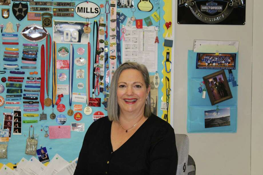 Lewis S. Mills High School teacher Barbara Angelicola-Manzolli. Photo: Stephanie Cowger / Contributed Photo /