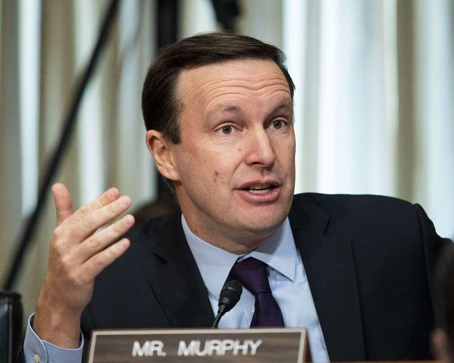 U.S. Sen. Chris Murphy (D-Conn.) at a Senate Foreign Relations Committee hearing on Dec. 3. Photo: Michael Brochstein / TNS / Zuma Press