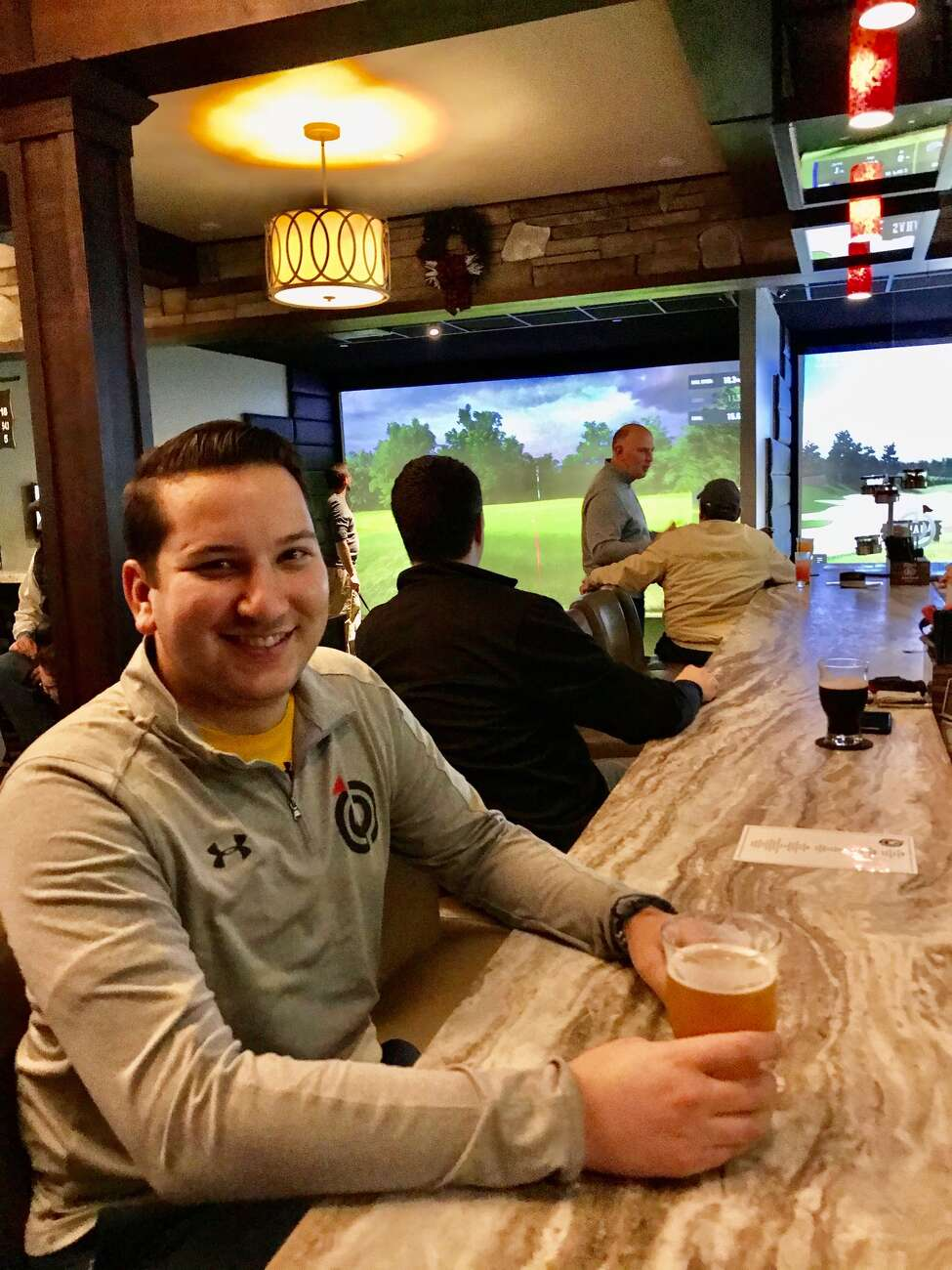 Chris Levy is golf-obsessed and plays at The Bunker four times a week when Albany Country Club is closed for the winter.