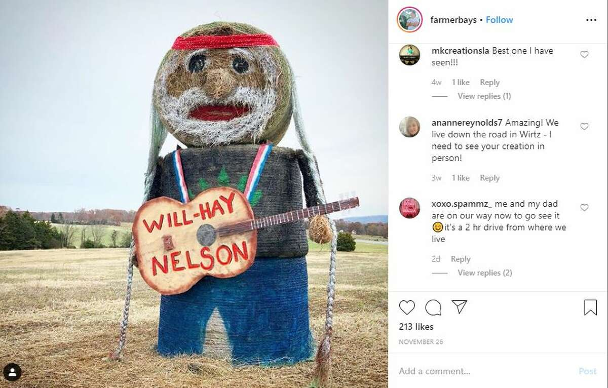 We all know that Texas loves native son Willie Nelson. But on one Virginia farm, they have caught hay fever over a 15-foot statue of