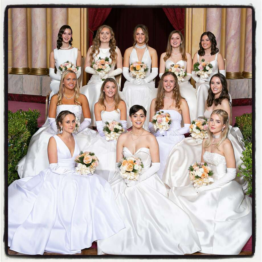The 2019 Cotillion Club Debutantes: Top row (from left) Gianna Gunier, Grace Ghiselli, Charlotte Babbitt, Meredith Power and Anna-Liisa Eklund. Middle row (from left) Eloise Engs, Kathleen Winnick, Kathryn Treene and Frances Huebner. Bottom row (from left): Natalie Towle, Katharine Huebner and Thea Donahoe. Dec. 21, 2019. Photo: Hilary Hood