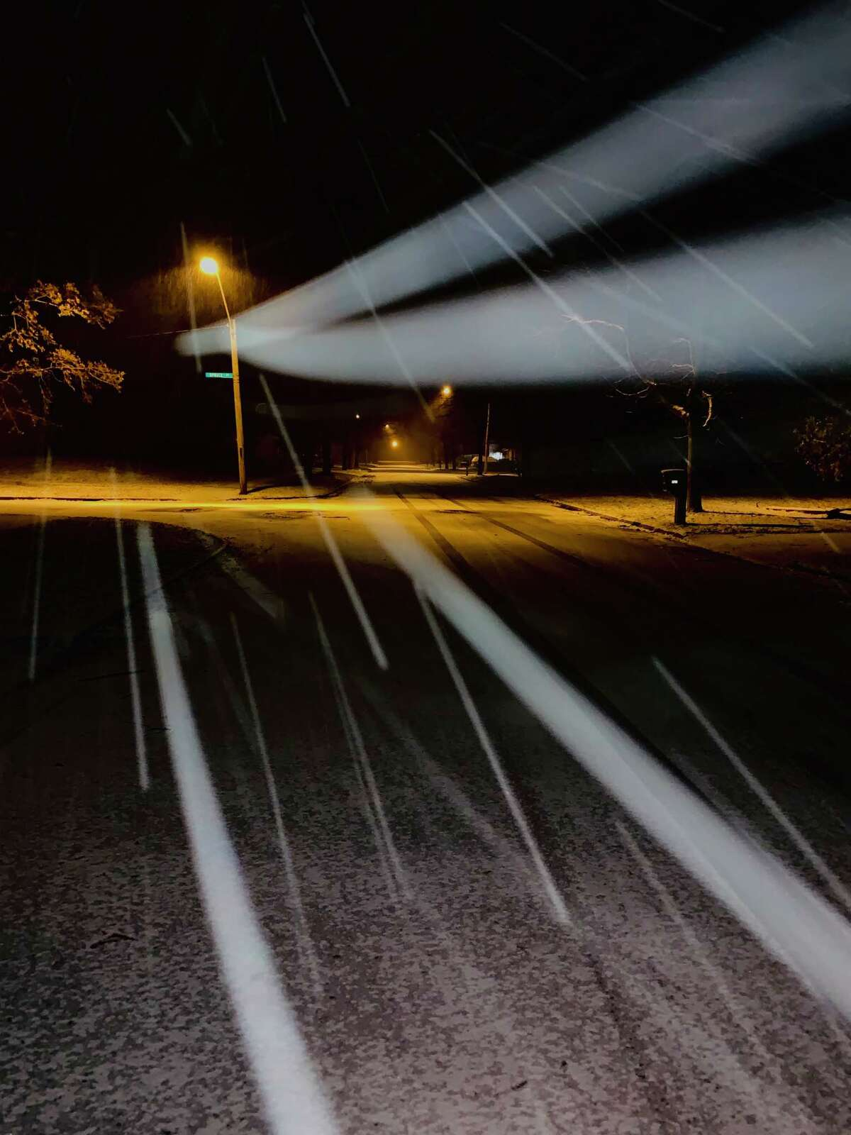 Images of Monday night's snowfall in Midland.