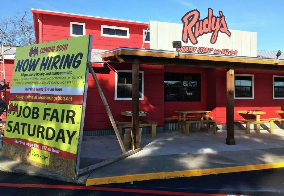 The new Rudy's Country Store and Bar-B-Q restaurant, located at the former Grady's BBQ outlet on Nakoma Drive just off U.S. 281, is set to open soon. Photo: Chuck Blount /Staff