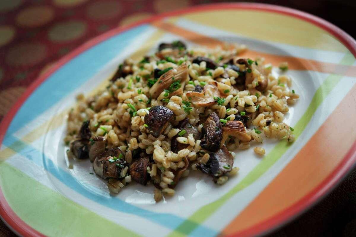 Grilled Mushroom and Barley Pilaf