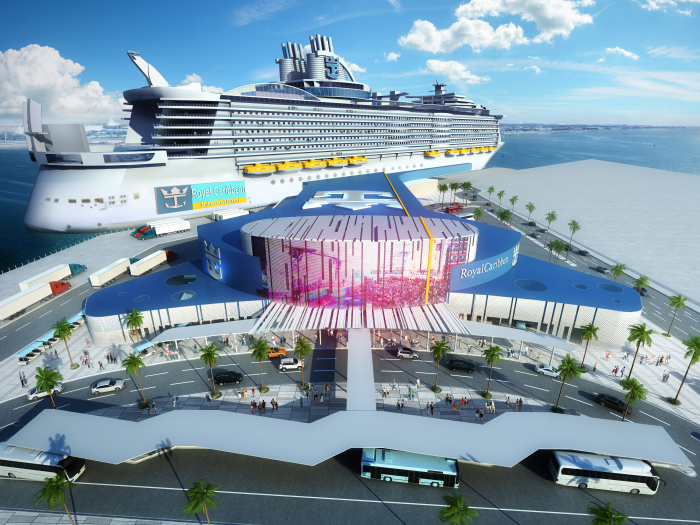 Allure of the Seas, one of the world's largest cruise ships, to set sail from Galveston