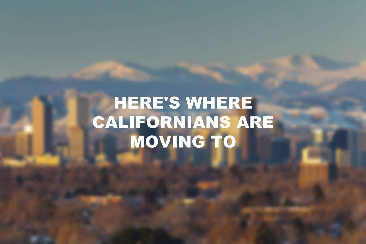 The top 10 cities Californians move to.