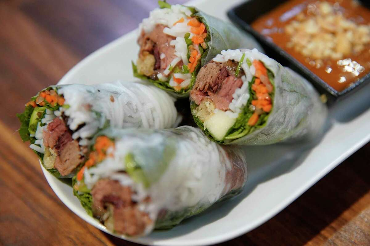 Brisket spring rolls at The Blind Goat in Bravery Chef Hall
