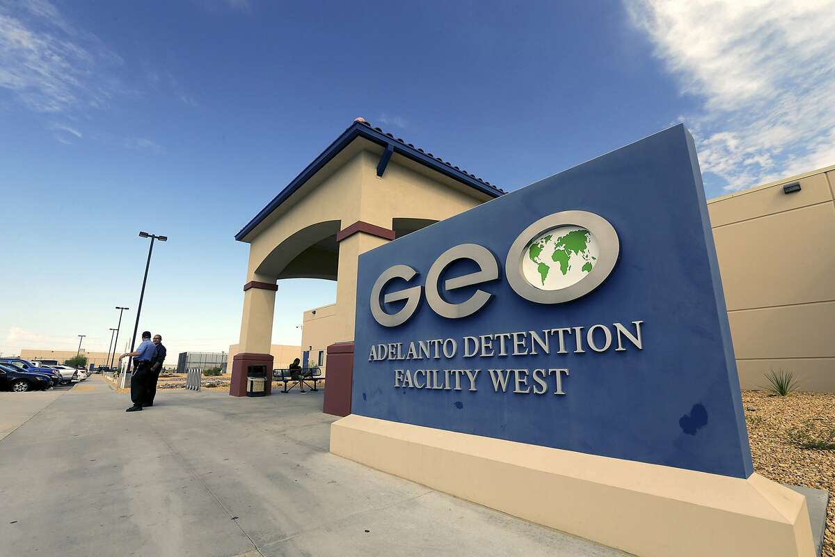 The GEO Group runs the Adelanto ICE Processing Center in San Bernardino County. Under contracts that took effect Friday, Adelanto and other privately run immigrant detention facilities in California are set to expand. (Irfan Khan/Los Angeles Times/TNS)