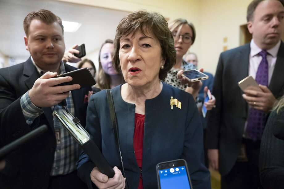 Sen. Susan Collins, R-Maine, faces re-election this year. Her impeachment vote will be a key issue. Photo: J. Scott Applewhite / Associated Press