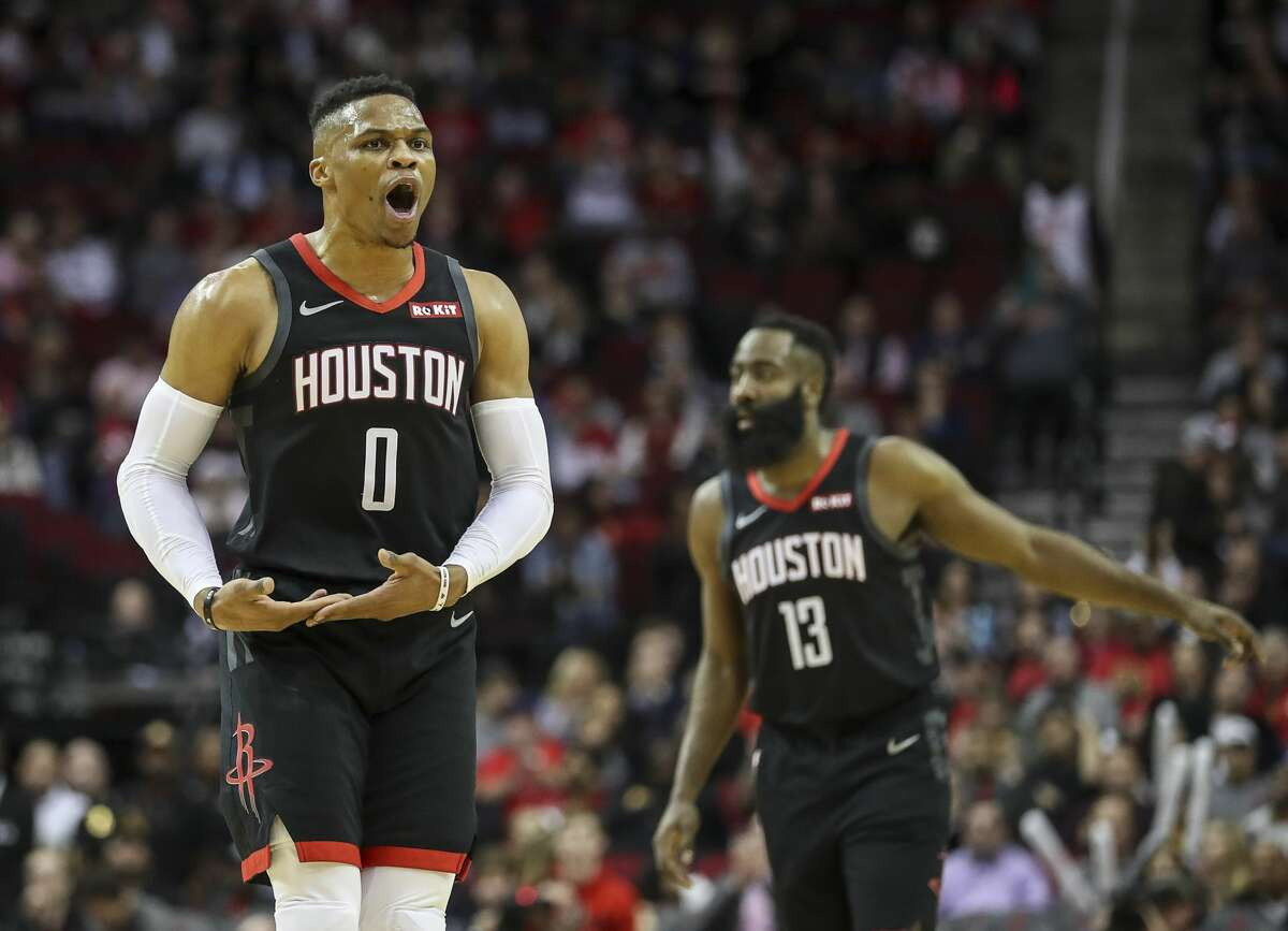 PHOTOS: 2019-20 Rockets game-by-game Houston Rockets guard Russell Westbrook (0) celebrates during the first quarter of an NBA game at the Toyota Center on Tuesday, Dec. 31, 2019, in Houston. >>>See how the Rockets have fared so far this season ...