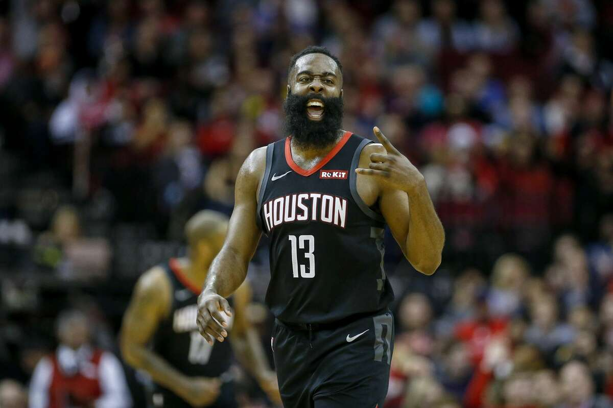 PHOTOS: 2019-20 Rockets game-by-game  Houston Rockets guard James Harden (13) celebrates after scoring during the fourth quarter of an NBA game at the Toyota Center on Tuesday, Dec. 31, 2019, in Houston. >>>See how the Rockets have fared in each game this season ...