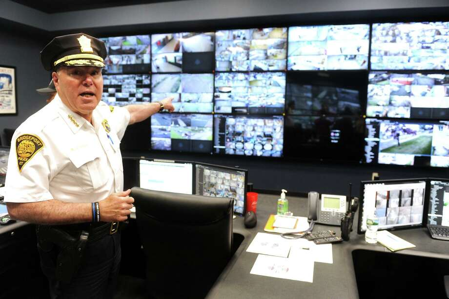 File photo of Bridgeport Police Chief Armando Perez in the Bridgeport Police Fusion Center, located at 999 Broad St. in Bridgeport, Conn. Photo: Ned Gerard / Hearst Connecticut Media / Connecticut Post