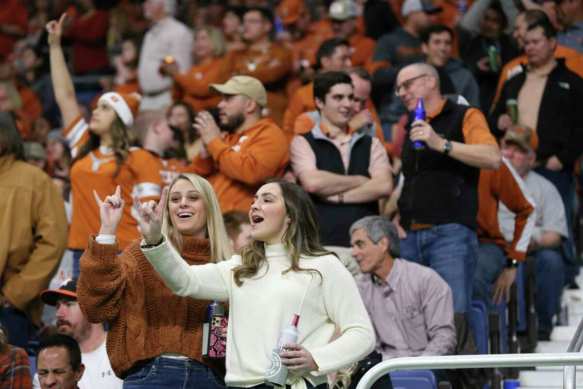 67,000 fans turn out to watch the Texas Longhorns play against the Utah Utes in the 2019 Valero Alamo Bowl at the Alamodome on Tuesday, Dec. 31, 2019. The Longhorns defeated the Utes, 38-10, to win the 2019 Valero Alamo Bowl.