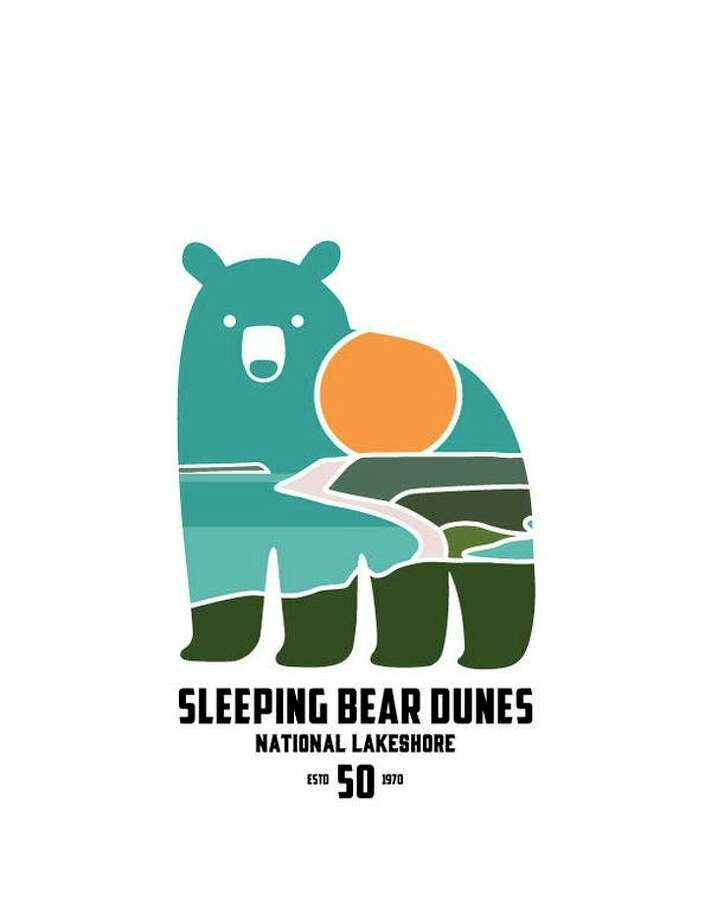 Sleeping Bear Dunes National Lakeshore's 50th anniversary logo. (Courtesy photo/National Park Service)