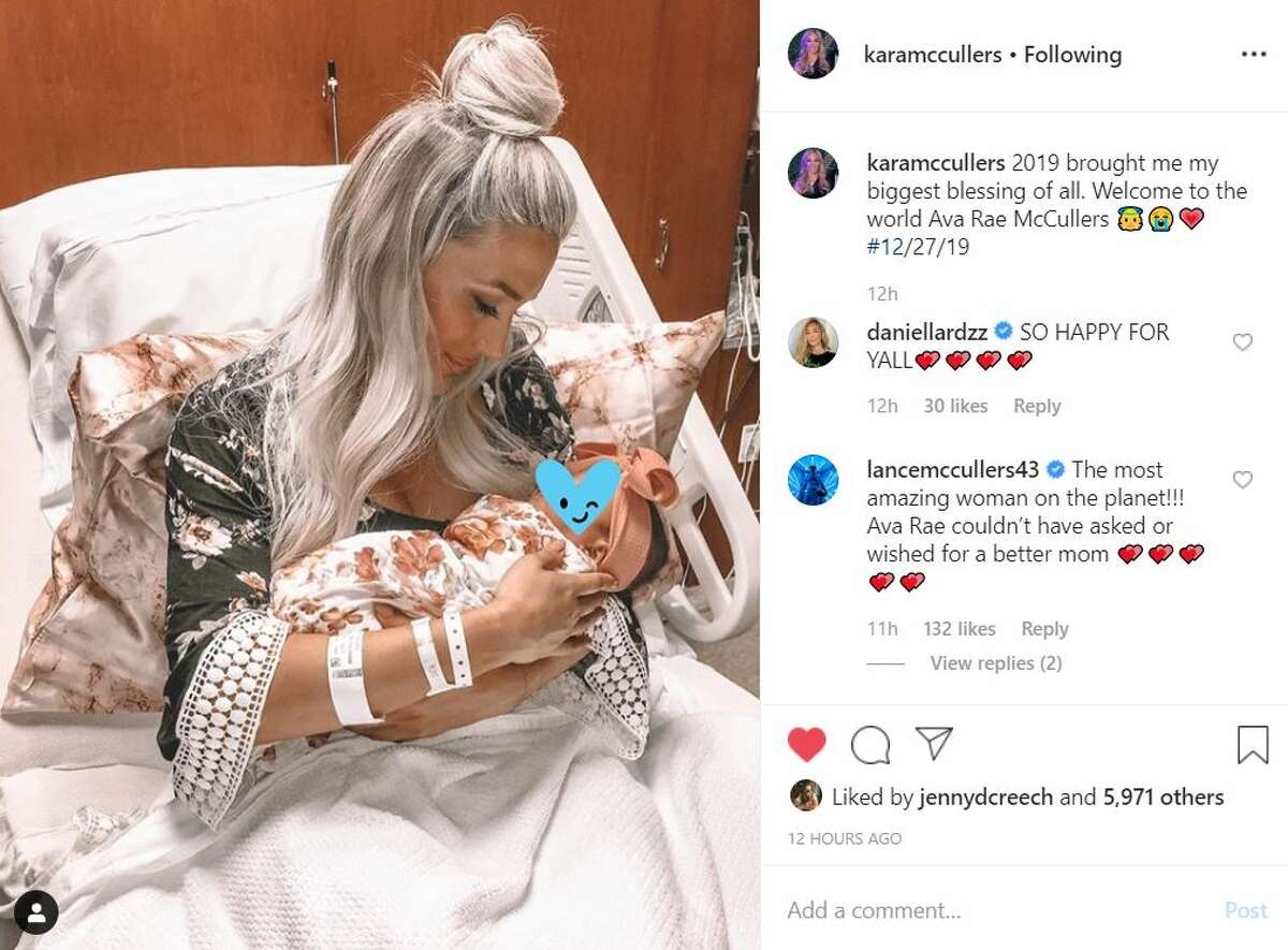 Astros pitcher Lance McCullers and wife Kara McCullers announced the birth of their daughter on New Year's Eve. >> Keep clicking through to see how other Houston celebrities celebrated the holiday.