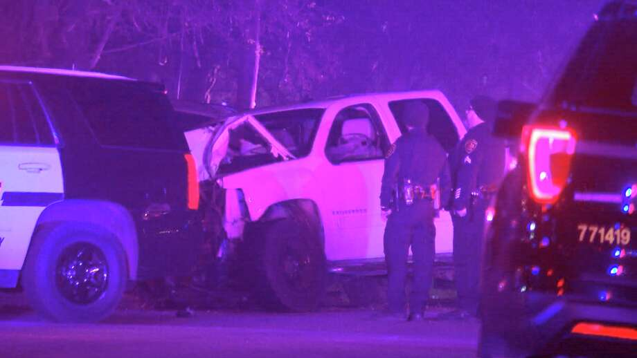 A man and a 14-year-old girl were killed and two other children were injured after a truck that was driving at a high rate of speed hit them as they were backing out of a driveway in a neighborhood on the city's West Side. Photo: Ken Branca