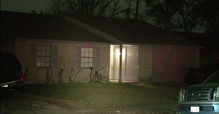 Houston police detectives said an unknown assailant fired several rounds into a house at the 16000 block of Lazy Ridge Road, on the city's south side. One woman was killed and another hospitalized. Photo: Screenshot Of Metro Video Footage